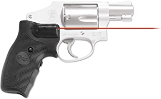 Crimson Trace LG-305 Lasergrips with Red Laser, Heavy Duty Construction and Instinctive Activation for Smith and Wesson J-Frame Round Butt, Defensive Shooting and Competition