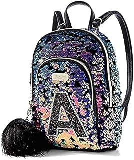 Justice Small Mini Backpack Dark Flip Sequin Initial (Letter K)