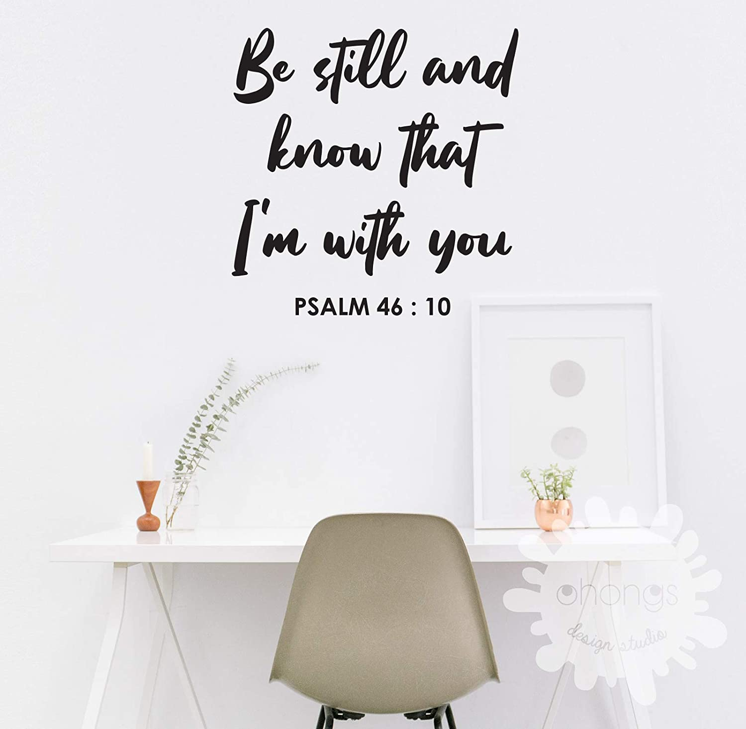 Bible quotes Be Great interest still Letter Wall PSALM Decor Wholesale 46 Cus Room Decal