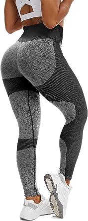 CFR Women Butt Lift Seamless Leggings High Waisted Tummy Control Workout Leggings Patchwork Yoga Pants