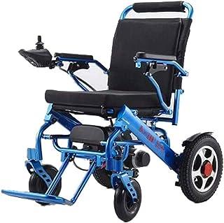 Sillas de ruedas eléctricas para adultos sillas de ruedas eléctricas, sillas de ruedas plegable portátil eléctrica silla de ruedas for minusválidos cuatro ruedas ancianos pueden tomar el avión de carg