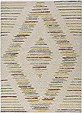 Universal Alfombra étnica de Pelo Largo Memphis Rombo Multicolor, 100%...