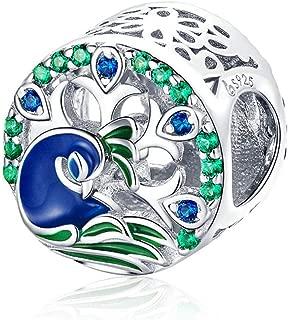 Best peacock charm bracelet Reviews