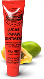 Lucas Papaw Ointment 25g - with antibacterial and antimicrobial properties for minor burns, cuts and open wounds, nappy rash, mosquito bites, sports injuries