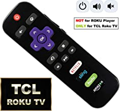 IKU RC280 Standard IR Remote Replacement for TCL Roku Smart TV with Updated 4 Shortcuts (TCL w/Amazon)