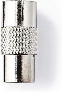 Nedis Satelliet- en Antenne-Adapter | Coax Male | Coax Female | Vernikkeld | 75 Ohm | Recht | Metaal | Zilver | 1 Stuks | ...