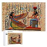 Rompecabezas colorido para adultos y niños, decoración de pintura única egipcia para todas las edades, regalo de Acción de Gracias, 1000 unidades