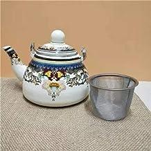 Emaliowany kociołek emaliowany o dużej pojemności 5 l emaliowany dzbanek do herbaty garnek z płaskim dnem kuchenka indukcy...