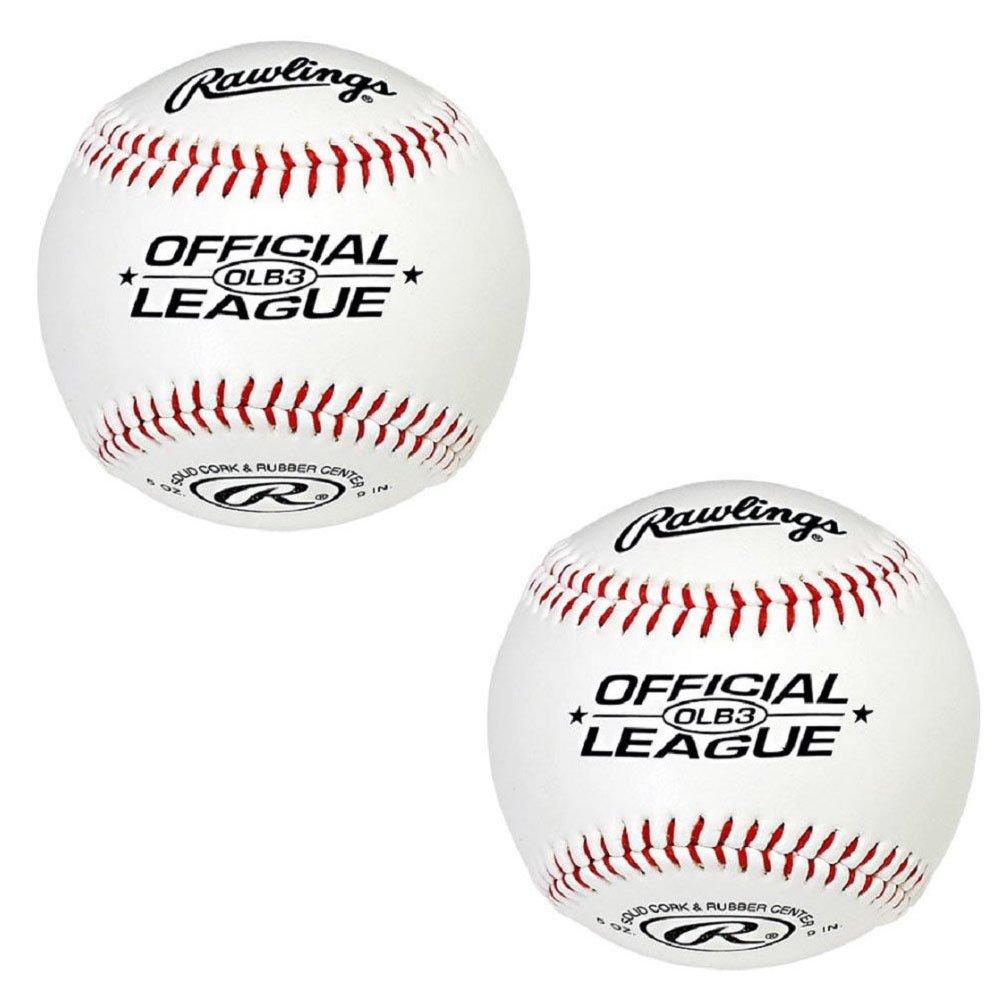 Rawlings OLB3 官方联盟休闲比赛棒球 白色 OLB3BT24-K7