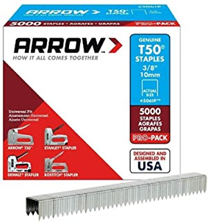 Arrow Fastener 506IP Genuine T50 3/8-Inch Staples, 5,000-Pack