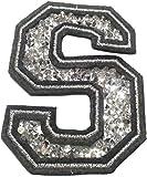 Bügel Iron on Buchstaben Aufnäher Patches groß für Jacken Cap Hosen Jeans Kleidung Stoff Kleider Bügelbilder Sticker Applikation Aufbügler zum aufbügeln S CA 8-10 cm