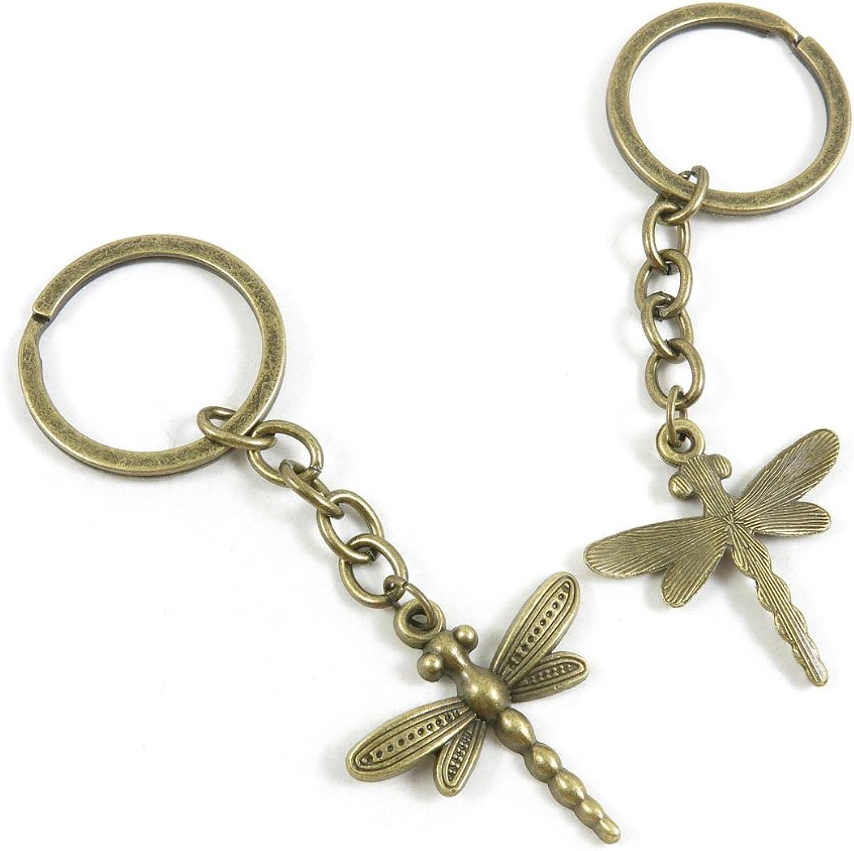 170 Pieces Fashion Jewelry Keyring Keychain Door Car Key Tag Ring Chain Supplier Supply Wholesale Bulk Lots R7EU3 Dragonfly