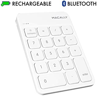 Macally Wireless Bluetooth Numeric Keypad for Laptop, Apple, Mac, iMac, MacBook Pro/Air, Ipad, Windows PC, Tablet, or...