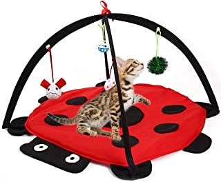 Alapa Cat Activity Center with Hanging Toy Balls, Mice More - Helps Cats Get Exercise Stay Active Best Cat Toys, Outdoor Bed Play Tent for Cat