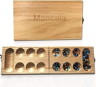 TL Mancala Game, Solid Wood Folding Mancala Board Game Travel Game