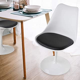 JAXPETY Swivel Tulip Side Chair for Kitchen Dining Room...