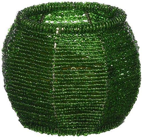 Koehler Home Decorative Emerald Green Beaded Candle Holder