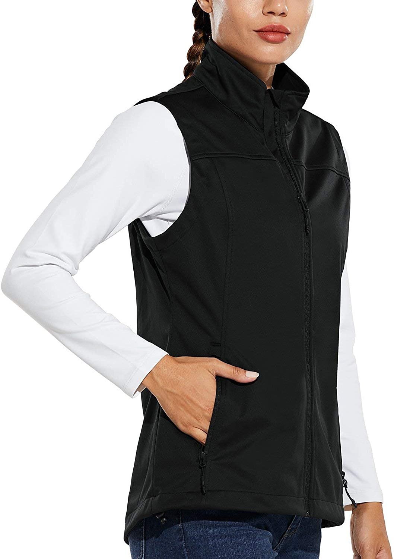 BALEAF Memphis Mall Under blast sales Women's Lightweight Vest Wind Softshell Sleeveless Jacket