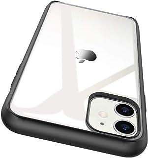 Egotude Ultra Slim Matte Bumper Clear Transparent Hard Back Case Cover for iPhone 11 (iPhone 11, 6.1 inch, Black)