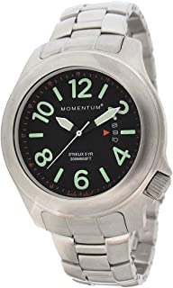 Men's Field Series Quartz Watch – Steelix   Black Dial, Water Resistant, Solid 316L Brushed Stainless Steel, Easy to Read Numbers, Date, Screw Crown   Japanese Mvmt, Analog