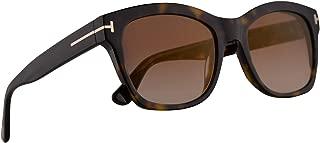 FT0614 Lauren-02 Sunglasses Dark Havana w/Brown Gradient 52mm Lens 52F FT614 TF 614 TF614