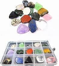 YIEASDA 15-Stone Mixed Crystals Kit, Healing Chakra Nature Rocks Stones for Reiki Meditation Rituals Spiritual Metaphysical Home Decor Teaching