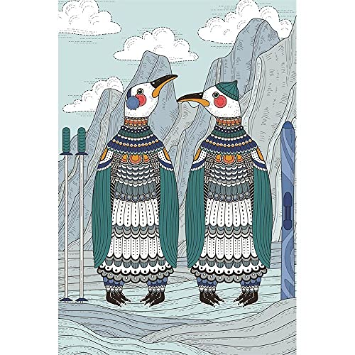 OSDFN Puzzle 4000 Pezzi per Adulti - Pinguino dei Cartoni Animati Puzzle , Giocattolo dal Design Unico per Regalo Educativo per Adolescenti E Bambini