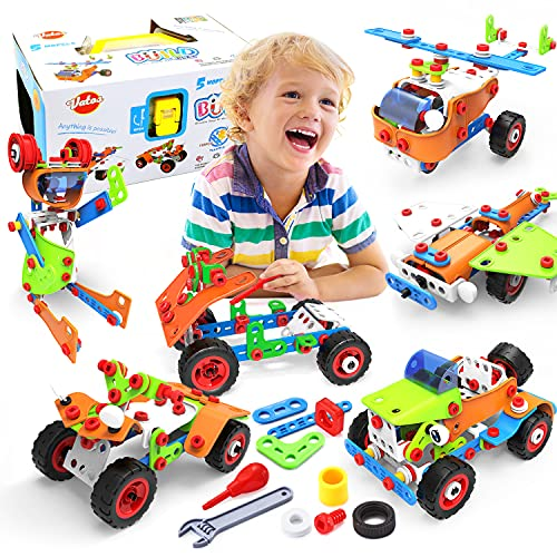 VATOS STEM Toys, Building Toys 165 PCS Educational Toys for 4- 5 6 7 8 9 Year Old...