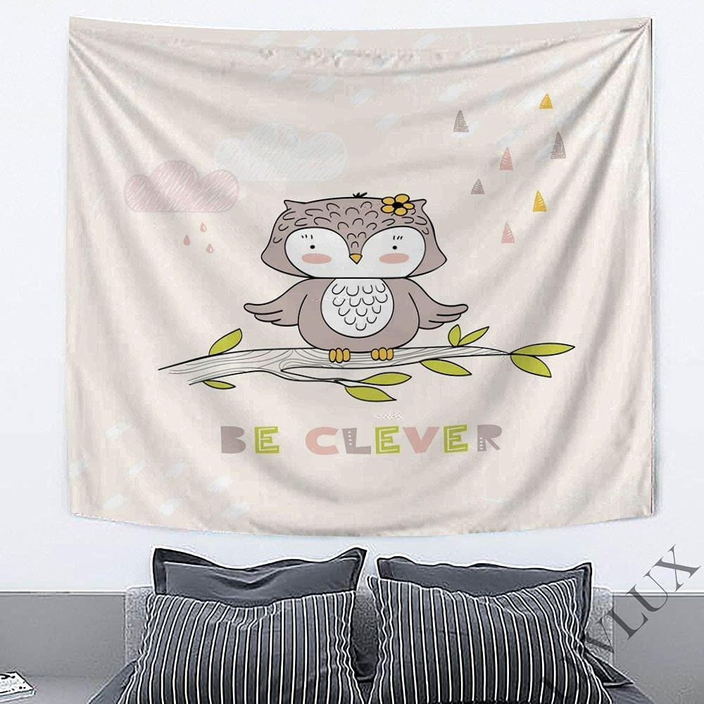 ALANCA Cute Little Owl Tapestry fo Home Wall New life overseas Hanging Decorations