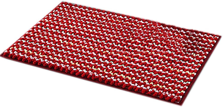 Door mat,Carpet Door mat Soft Fluffy Kitchen Rug Bathroom Non Slip Door mat-red 50x80cm(20x31inch)