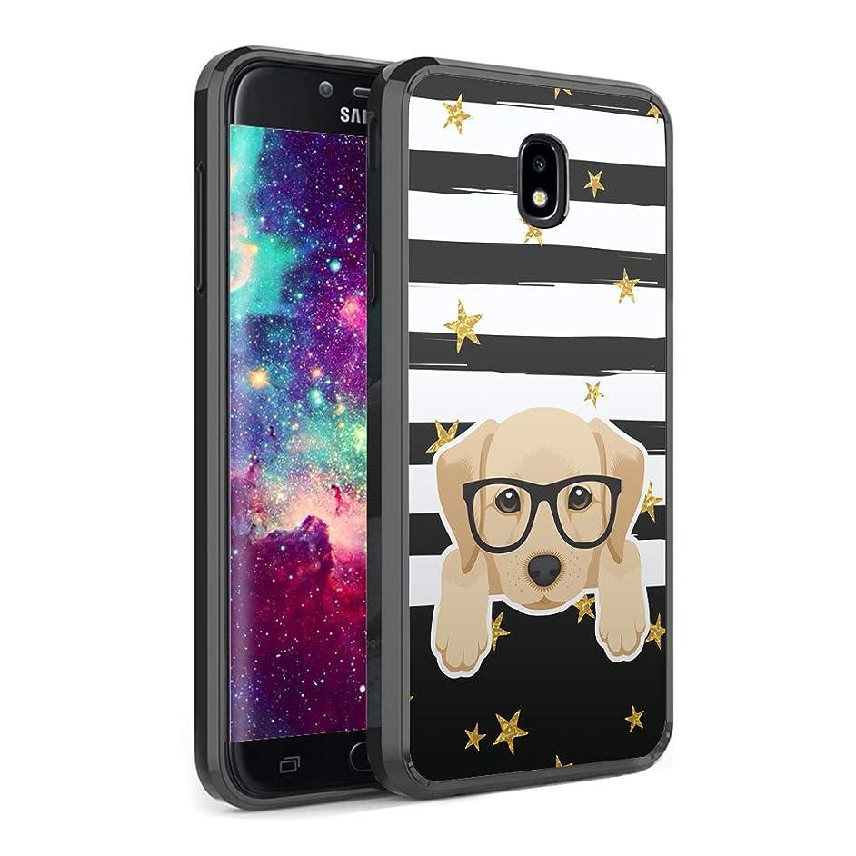Capsule Case Compatible with Samsung Galaxy J7 2018 (J737), J7 Star, J7 Aero, J7 Refine, J7V 2nd Gen, J7 Crown, J7 Eon [Slim Hard Back Shield TPU Bumper Case Black] - (Labrador)