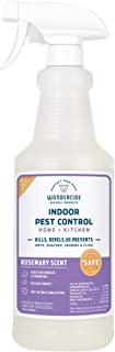 Wondercide Natural Indoor Pest Control Spray for Home and Kitchen — Fly, Ant, Spider, Roach, and Bug Killer and Repellent — 32 oz Rosemary