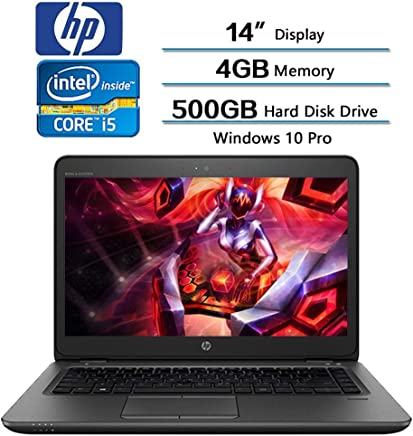 HP ZBook Mobile Workstation Laptop 14in HD (1366 X768) LCD Display, Intel Core i5-7200U (Up to 3.1GHz) 4GB DDR4 500GB Hard Disk Drive FirePro W4190M HD Graphics 620 Win 10 Pro (Renewed)