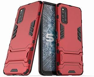 Ougger Vivo iQOO Neo3 5G カバー ケース エクストリーム保護 衝撃吸収性 [スタンド] 鎧 硬い PC + ソフト TPU 緩衝ゴム 2in1 カバー Vivo iQOO Neo3 5G (Red)