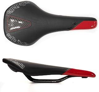 Selle Italia XR - Sillín universal para bicicleta de carretera (carriles de aleación), color negro y rojo