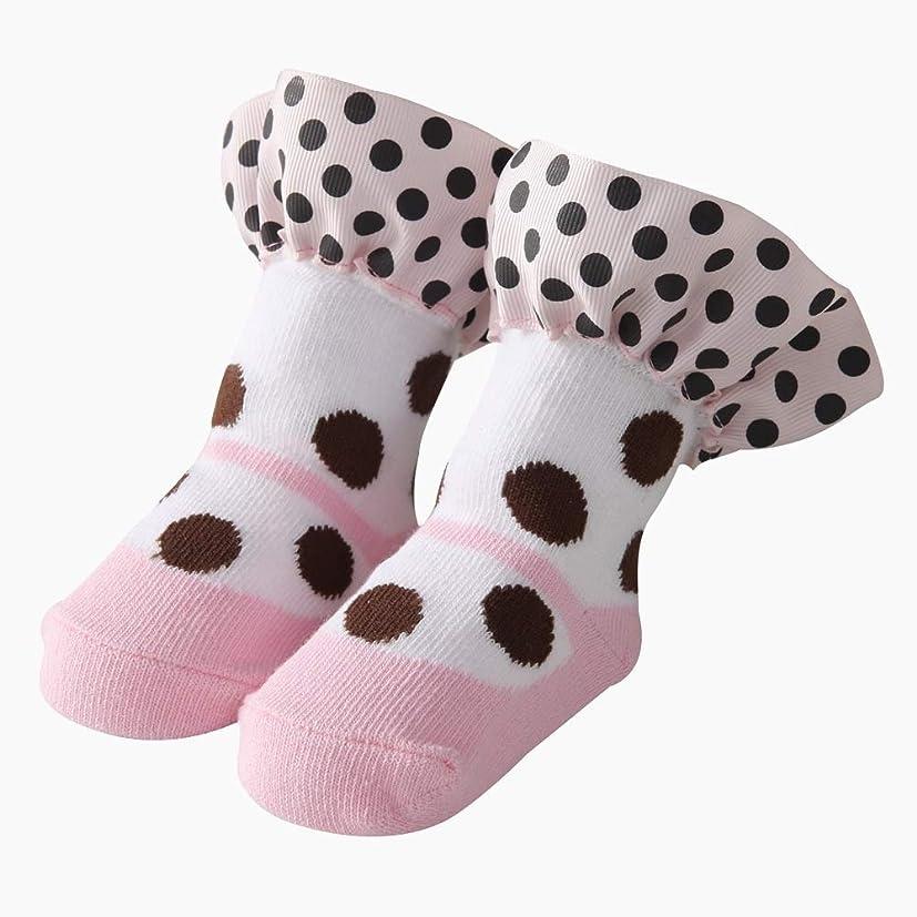 地上でヶ月目いつもキッズ 子供 靴下 女の赤ちゃんのソックス春と秋のレースソックス (Size : M)