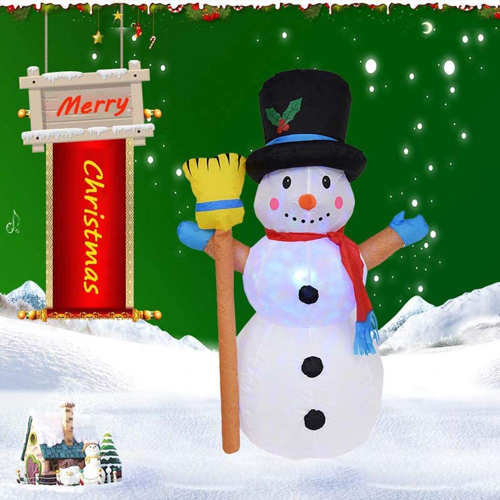 ZQQ Topics on TV Christmas Snowman Decorations 4FT Snow Philadelphia Mall Inflatable