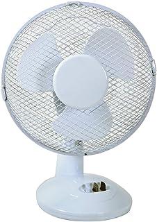 MERCURY - Ventilador de Mesa Blanco Potente y silencioso con 2 ajustes de Velocidad, 22 W
