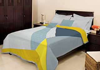 Bombay Dyeing Cosy Polyester Double Blanket - Light Grey