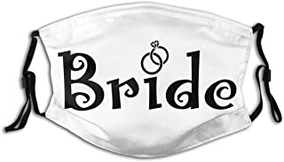 Wedding Bride Outdoors Bandanas Washable and Reusable Mouth Shield for Dust Protection Anti Face Guard Washable Earloop Ba...