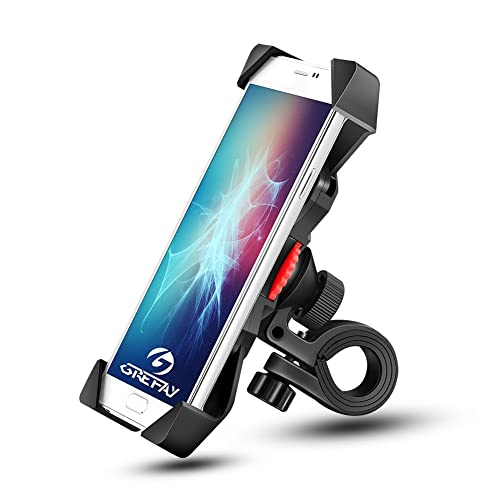 Support de Vélo Moto Téléphone Guidon de Vélo Moto Berceau Collier avec Rotation 360 pour 3,5 à 6,3 Pouces GPS pour Smartphones Autres Appareils