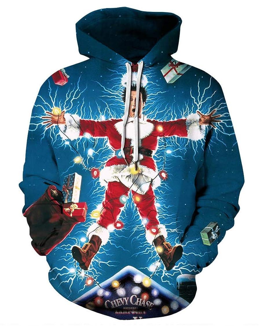 Momodani Unisex Realistic 3D Digital Print Pullover Hoodie Hooded Sweatshirt