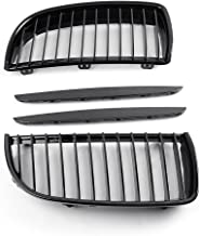 PAIR Front Grille Bumper Grill For BMW E90 3 Serie 2005-2008 06 07 Glossy Black