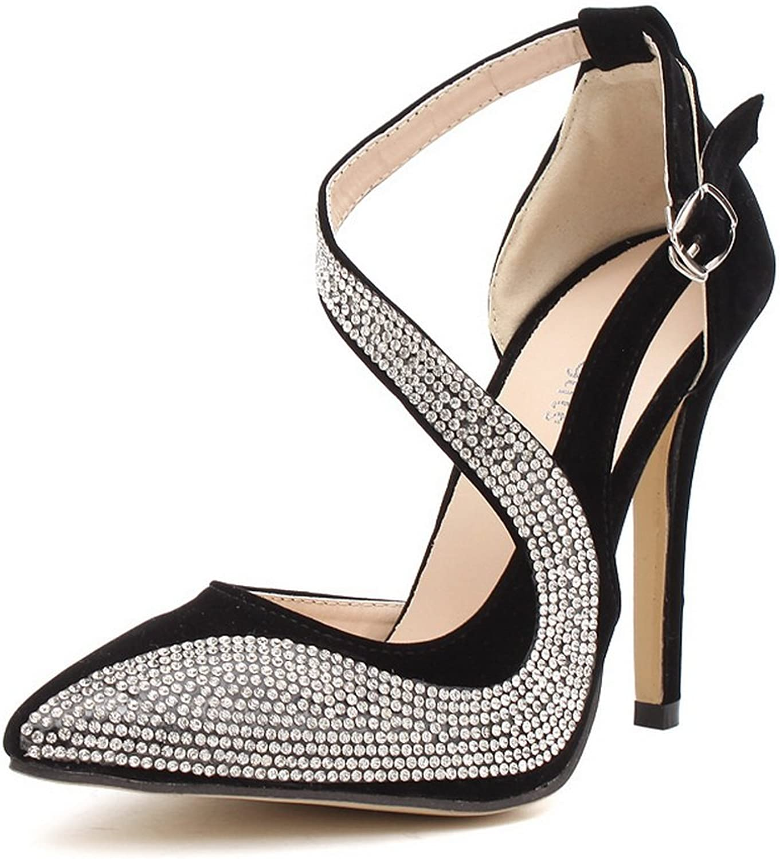 AdeeSu Womens Fashion Pointed-Toe Urethane Pumps shoes