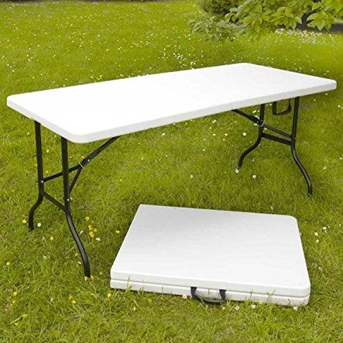 YAD TABLE PLIANTE D'APPOINT PORTABLE POUR CAMPING OU RÉCEPTION 180 CM
