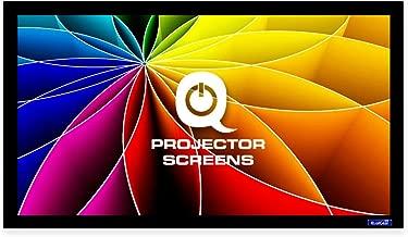 QualGear 92-Inch Fixed Frame Projector Screen, 16: 9 4K HD Ultra White at 1.2 Gain (Qg-PS-Ff6-169-92-W)