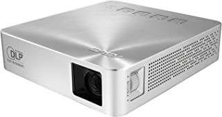 Asus S1 Portable LED Projector, 200 Lumens, Built-in 6000 mAh Battery - Silver