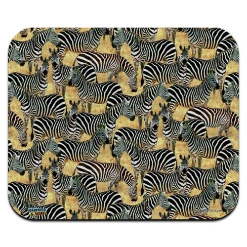 Mauspad, African Plains Zebra Herde Weidemuster Low Profile Thin