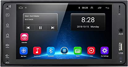 hizpo Car Stereo Android 9.0 Car Navigation 7 Inch Supports RDS USB Mirror- Link WiFi Bluetooth Steering Wheel Control for Toyota.