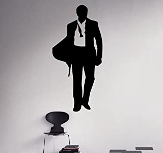 Agent 007 Wall Decal James Bond Movie Vinyl Sticker Home Interior Art Decor Ideas Bedroom Living Room Office Removable Housewares 5(bon)